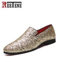 New Arrival Luxury Men S Casual Shoes Fashion Nightclub Bars Party Men Leather Shoes Slip On
