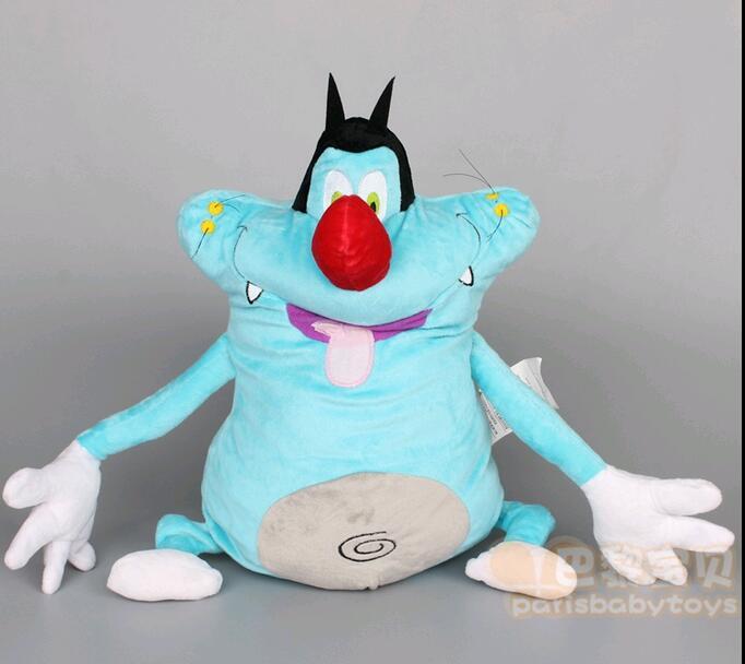 Ücretsiz kargo 38 CM Oggy ve Hamamböcekleri Şişman Kediler Oyuncaklar & hobiler Dolmalar & Peluş Hayvanlar bebek Çocuk Yumuşak çocuklar için hediye