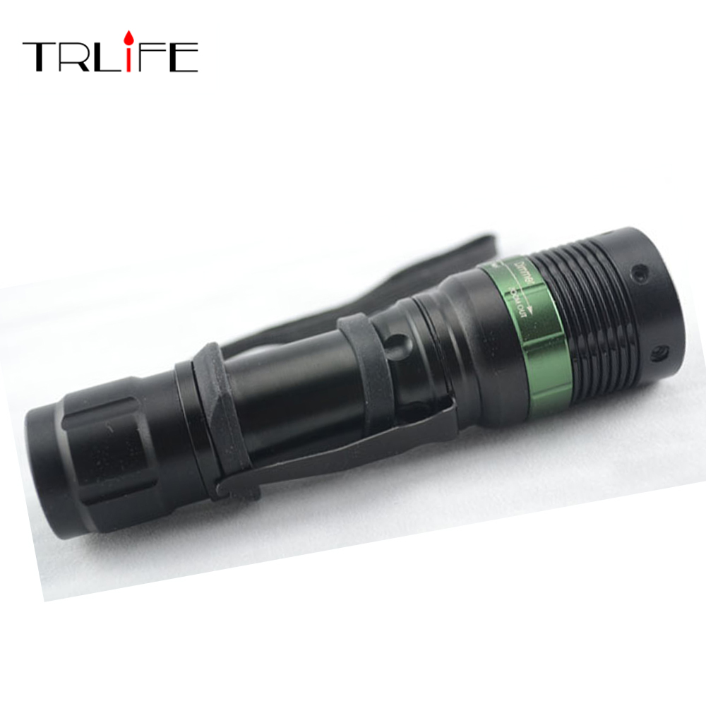 3000 Lumen Zoomable CREE XM-L Q5 LED Flashlight Torch Zoom Lamp Light Black with hand strap 3000 lumens zoomable cree xm l t6 led tactical flashlight torch zoom lamp light waterproof led 5 modes for 1x18650 3xaaa