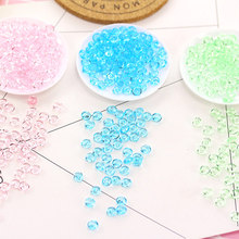 75g Clear Flat Beads Transparent Slime Supplies Accessories Filler DIY Fishbowl Beads Crystal Mud Particles Slime Decorations(China)