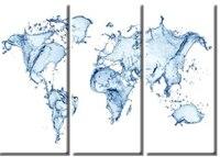 المبيعات الساخنة الإطار 3 لوحة المياه سبلاش خريطة الطباعة قماش اللوحة صورة الفن قماش اللوحة الجملة XJ1-200-239