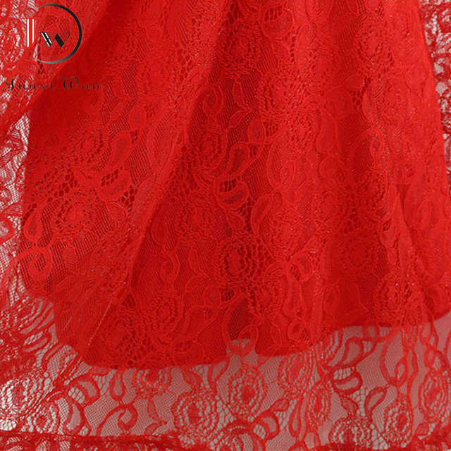 Lace Vintage Dress Women Summer Sleeveless Sexy Red Party Dresses Casual Elegant Midi Office Vestidos Robe Femme Plus Size 2