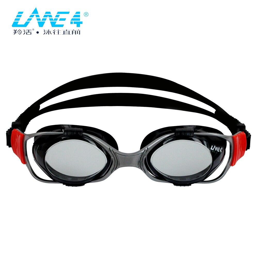08f500e8707 LANE4 Training   Performance Swim Goggle Hydrodynamic Design Anti-fog UV  Protection for Adults Men Women A345