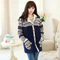 Winter New Maternity Clothes Christmas Fashion Elk and Snow Flake Printing Pregnant Women Casual Hooded Coat Gravida Jacket