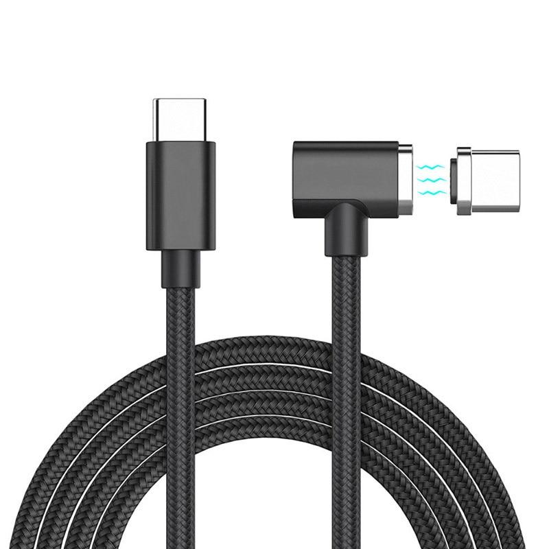 1.5 M Tipo Magnético-C a-Tipo C Cabo para Apple Macbook Pro Cabo do carregador Universal Para Samsung S8 Mais 4.3A Carregamento Rápido cabo