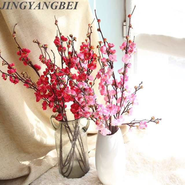 Artificial flower Chinese plum blossom Japanese cherry blossom     Artificial flower Chinese plum blossom Japanese cherry blossom wedding home  wall rose photography set across the