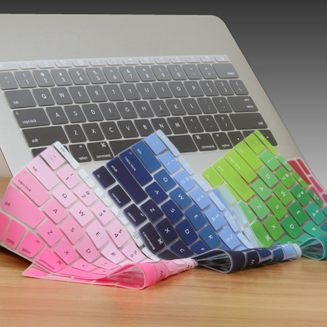Gradient Ombre 7 Colors US Version Keyboard Cover Silicone Skin For ...