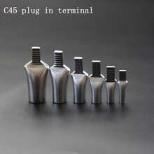 C45, 4-50mm2 terminals circuit breakers wiring cold pressed copper terminals pin insert bare end(China)