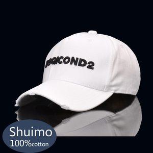 DSQICOND2 black and white minimalist tennis stick DSQ high quality men's hats custom design logo cap men's dad hat(China)