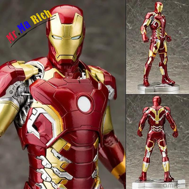 Free Shipping Crazy Toys Avengers Age Of Ultron Iron Man Mark Xliii Mk 43 Pvc Action Figure Collectible Model Toy 12 30cm portable 5 level abs stand holder for ipad 2 ipod touch 4 iphone 3g 4 purple