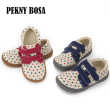 Pekny Bosa brand Canvas children barefoot shoes Fabric Stitching kids shoes for boys girls school shoes enough top toe for kids цена
