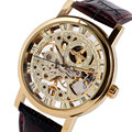 Skeleton Mechanical Watch Men Luxury Stylish Hand Winding Wristwatches Casual Business Dress Classic Stainless Steel Male Clock