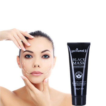 DISAAR Blackhead Remove Facial Masks Cream Bamboo charcoal Cleansing Pore Refining Peel Off Mask Black Nud Facail Face Pack 120g image
