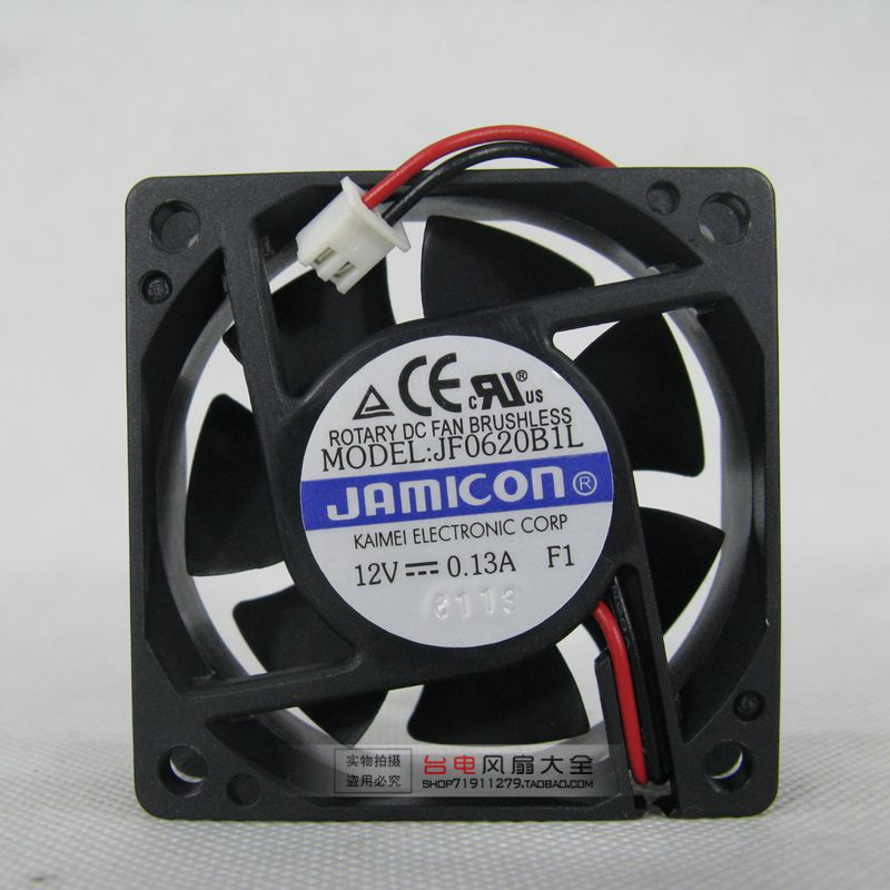 6CM 6020 12V double ball power supply cooling fan JF0620B1L 3700 rpm