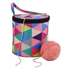 Цилиндрическая шерстяная пряжа сумка для хранения свитер игла сумка для вязания крючком домашние швейные принадлежности сумка для хранения портативный держатель