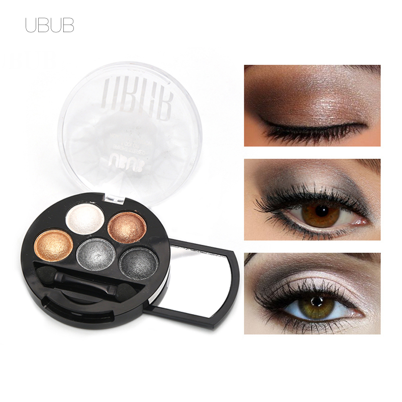 UBUB Mata Profesional Makeup Pigmen Eyeshadow 5 Warna Eye Shadow Palette Beauty Brand