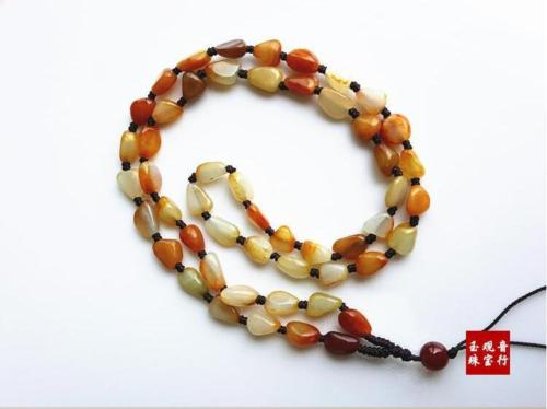 Koraba Fine Jewelry Real Treasure Chinese Hetian Jade Pebble Raw Bead Hand Knitted Necklace Free Shipping