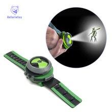 2018 Лидер продаж Бен 10 Стиль Японии проектор часы Ban Dai Подлинная игрушки для детей слайд-шоу Ремешок Drop