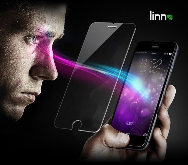 LINNO Eyes Care For iphone6 protective film Anti UV Anti blue light 0.3mm 2.5D Tempered Glass Screen Protector iphone 6/6s