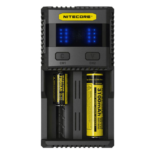 Brand New Nitecore SC2 Superb 18650 Battery Charger 3A Fast Charge with USB  Output for Vaping