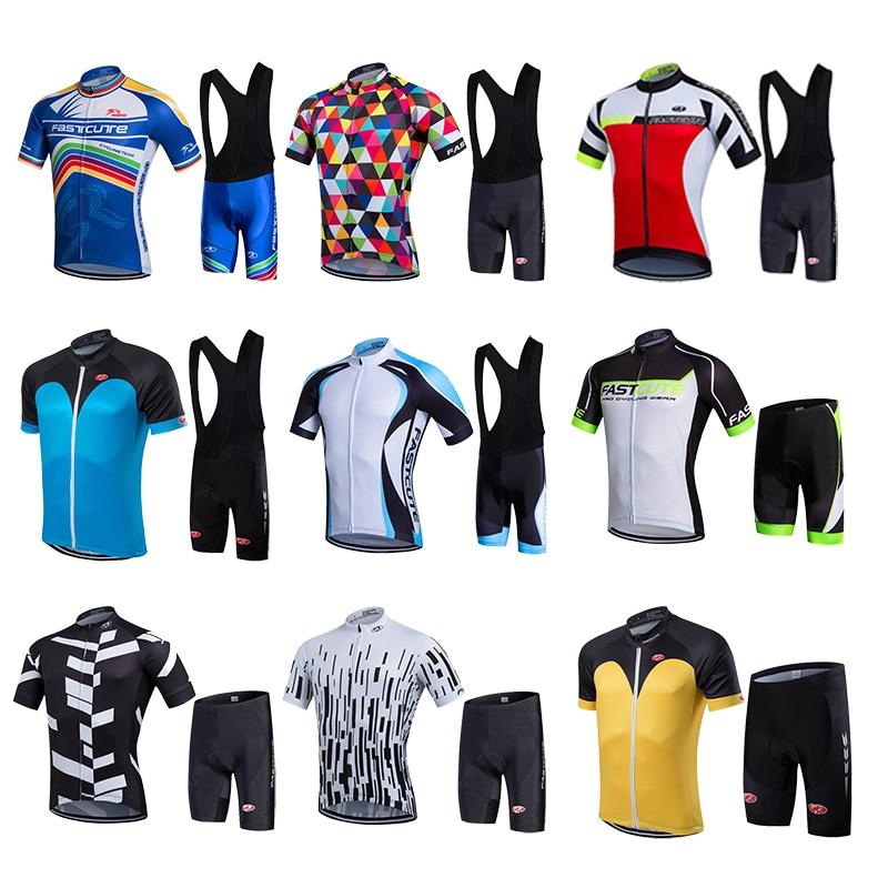 FASTCUTE Pro Cycling Jerseys Short Sleeve Cycling Uniforms Summer Men Cyclist  Clothing Bib Shorts Set Road Bike Apparel f3c737dd4
