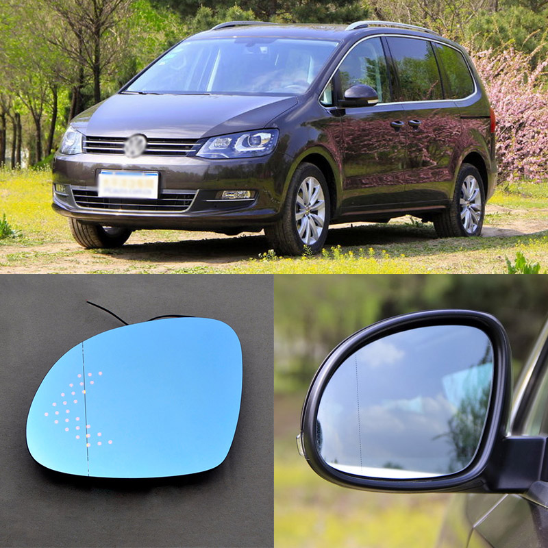 For Volkswagen Sharan Brand New Car Rearview Mirror Blue Glasses LED Turning Signal Light with Heating for volkswagen sagitar brand new car rearview mirror blue glasses led turning signal light with heating