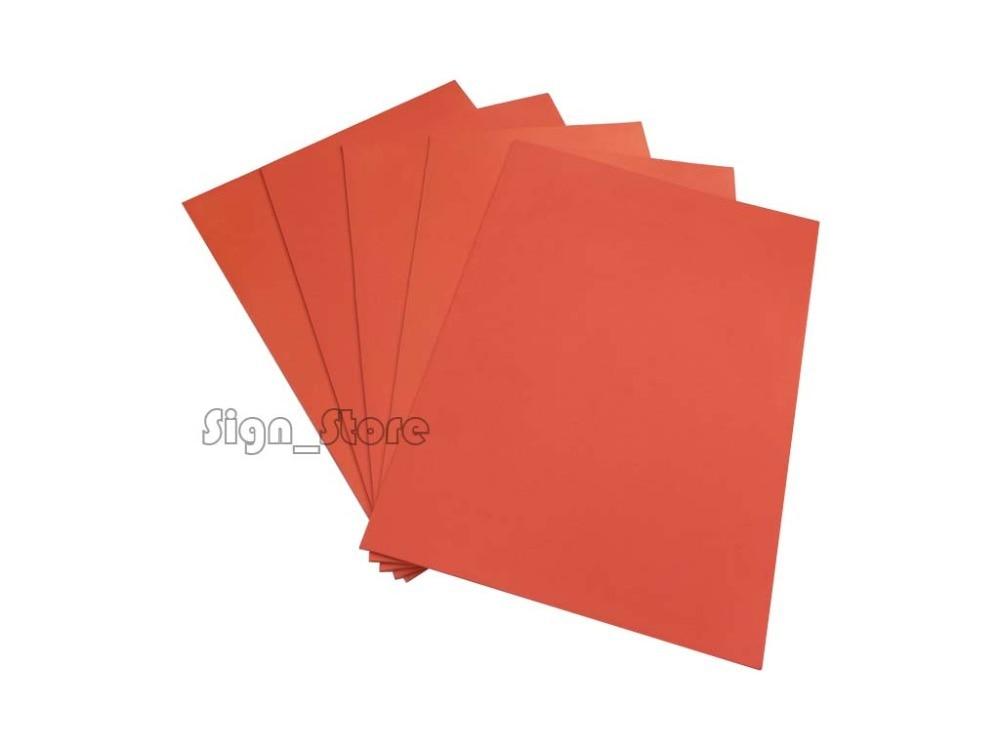 Free Shipping Laser Rubber Sheet 297 X210 X2.3mm A4 Size Orange Colour For Laser Engraving Engraver Stamp Maker