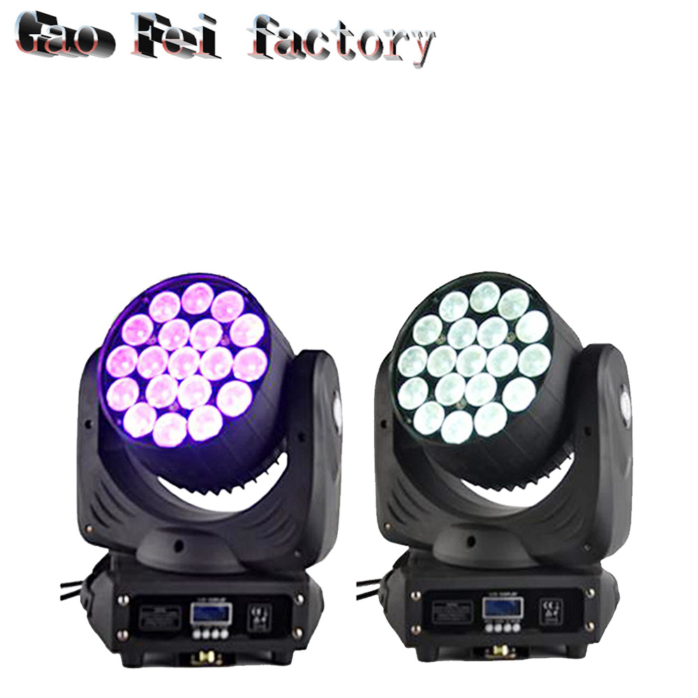 19*12w Led RGBW Wash/Zoom Light 16 Channels DMX512 Moving Head Light Professional Stage Light & DJ/Party/Stage Lighting Effect19*12w Led RGBW Wash/Zoom Light 16 Channels DMX512 Moving Head Light Professional Stage Light & DJ/Party/Stage Lighting Effect
