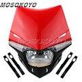 Enduro MX гоночные фары для мотокросса H4 12V 35W LED Vison передняя фара для Honda CRF250 CRF450 Red