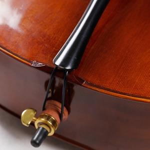Image 3 - SevenAngel Handcraft Oil Varnish Antique Cello 4/4 Natural Flamed Grade AAA Spruce Panel ViolonCello Musical Instruments