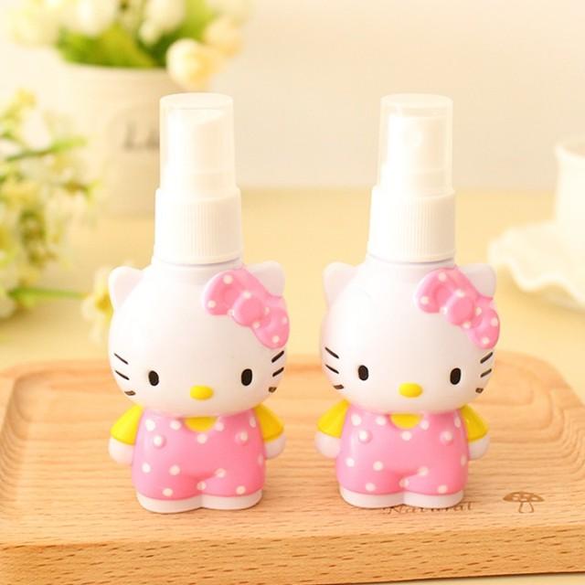 1 unids gato Precioso portátil de Viaje de Baño Mini Botella De Plástico de Champú/Maquillaje líquido botella de spray botella de cosméticos de embalaje