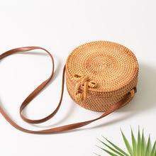 Women Summer Rattan Handmade Cross Body Bag