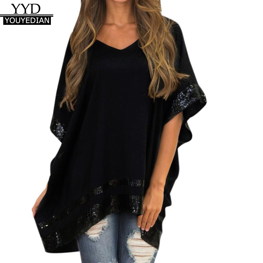 Women's Clothing Youyedian Womens Tops And Blouses Plus Size Summer Fashion Womens Button Star Printed Tunic Shirt Short Sleeve Hot Drill Blouse