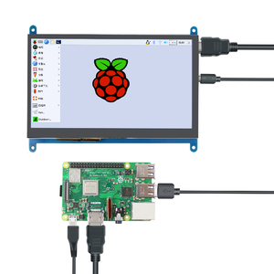 Image 3 - 7 inch Raspberry Pi 3 Model B+ LCD Display Touch Screen LCD 1024*600  HDMI TFT Monitor + Holder Case for Raspberry Pi 3