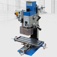 600W Milling Drilling Machine Multifunction MT2 Bench Drill Clamping 16mm AC220V Mill Wood Lathe Processing Machine