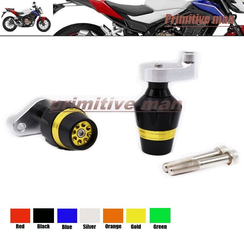 ФОТО For HONDA CB500F & CB500X 2013-2014 Motorcycle Frame Sliders Crash Protector Gold
