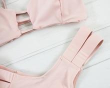 Push Up Bandeau Pink Brazilian Bandage Biquini
