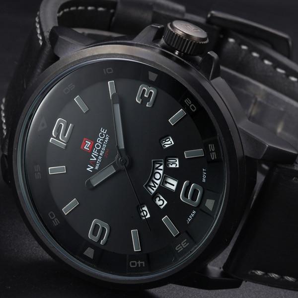 2016 Heta män Klockor Topp Märke Lyx Armbandsur Män Militär Läder Sport Klocka Auto Hour Datum Klocka Relogio Masculino