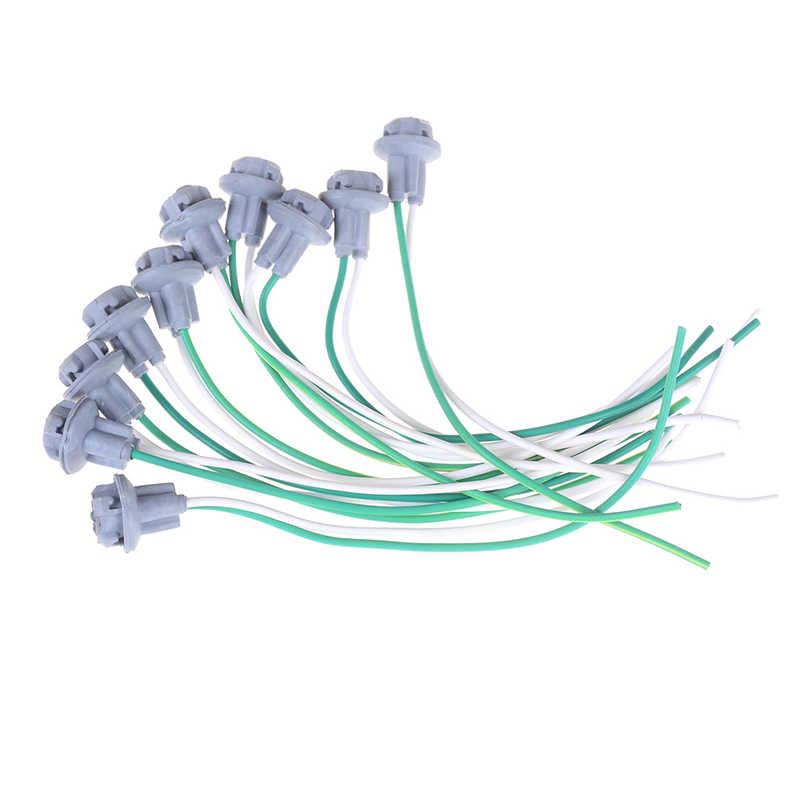 10 шт. T10 разъем автомобиля лампа кабель провод лампы для Авто Грузовик светильник светодиодный лампы разъем 15 см