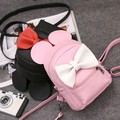 2016 новая женская сумка качество pu кожа женщины сумку Корейской версии Микки уши сладкий лук Колледж Ветер мини-рюкзак