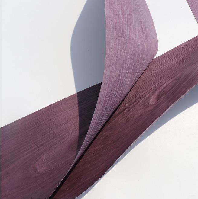 1Piece Length:2.5Meters Width:20mm Thickness:0.25mm Dyeing Purple Wood Veneer