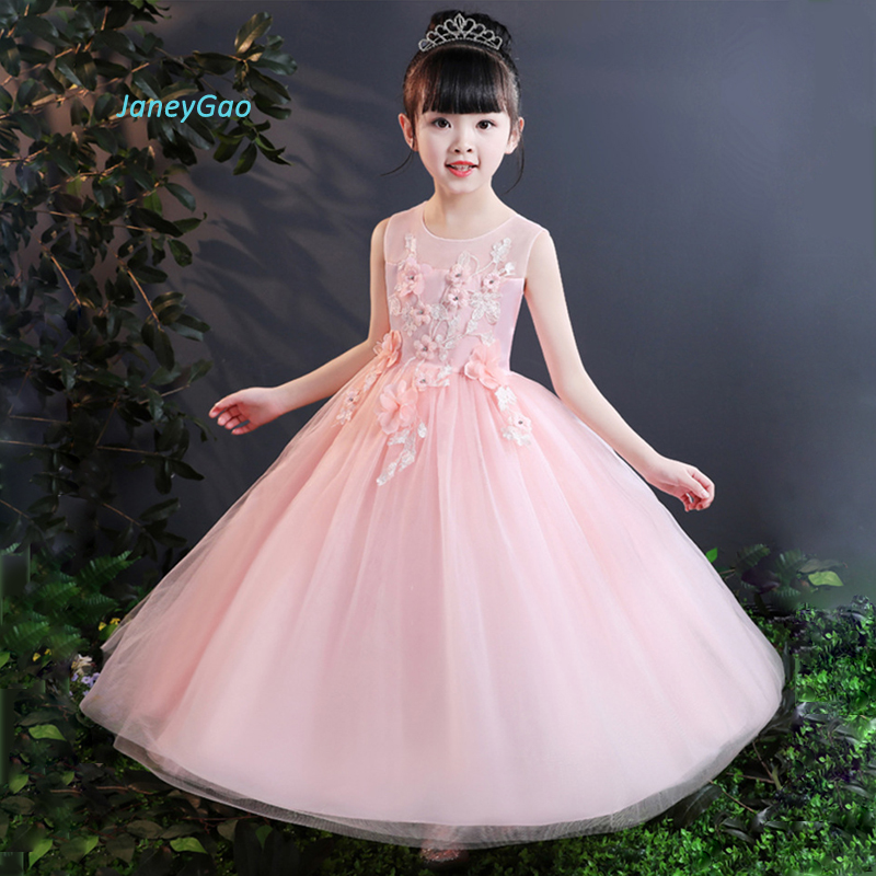 JaneyGao   Flower     Girl     Dresses   Long Stylish Pageant   Girl   Formal Gown First Communion   Dresses   Birthday Party Teenage   Girl     Dresses