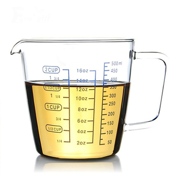Glass Measuring cup With a scaleglass Milk transparent heat Bakingcan microwavered milk cupkitchen measuring cups for bar Кубок
