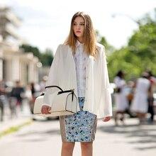 купить Office lady thin cotton summer blouse V neck lantern long sleeve white tunic transparent beach cape kimono large shirt 2019 new онлайн