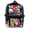 New Mochila Super Mario Backpack Cartoon School Bag Student Bags Double Shoulder Anti Water Boy Girls Schoolbag