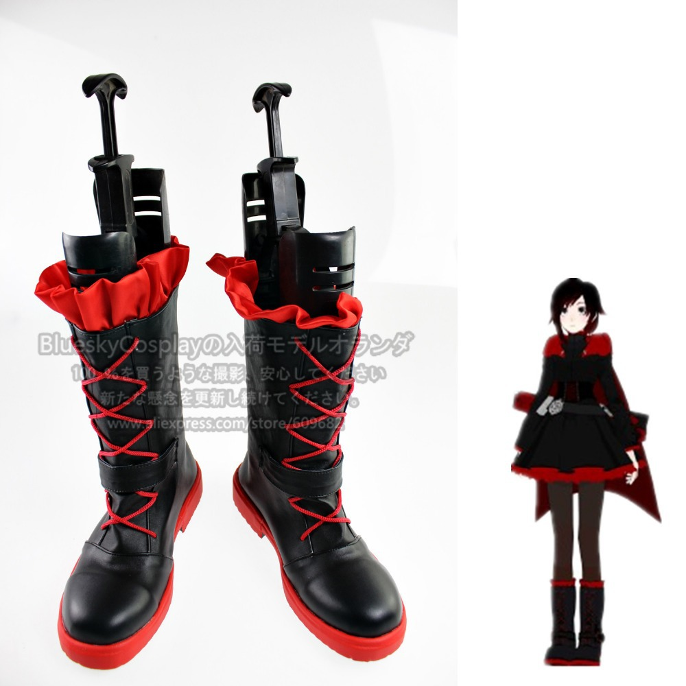 RWBY Ruby Rose    Cosplay Shoes Boots Custom-Made  SH5