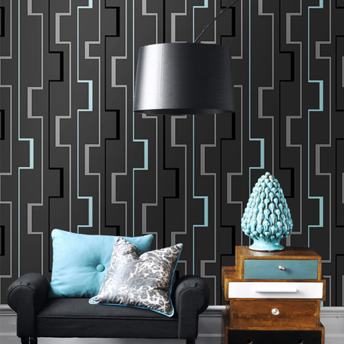 3D Abstract Paredes Papel De Parede Geometric Roll for Bedroom ...