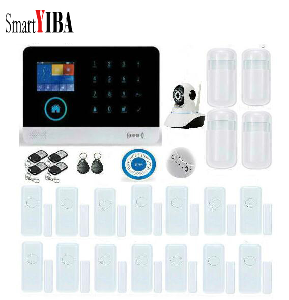 SmartYIBA WIFI GSM System Touch keypad IOS Android APP control Home Security font b Alarm b