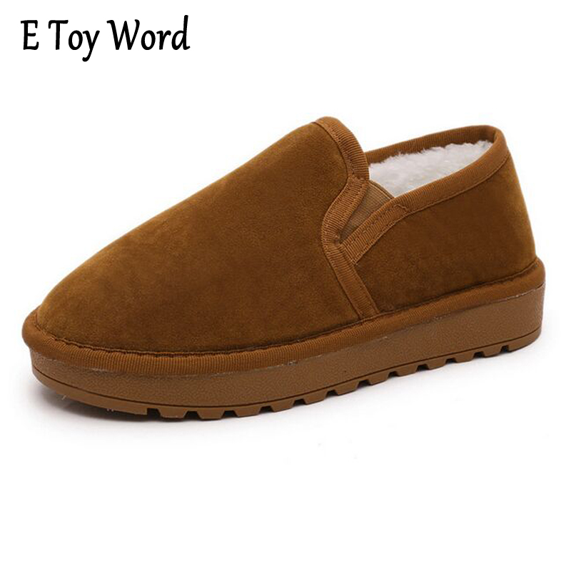 E TOY WORD 2017 Winter Snow Boots Women Warm Fashion Platform Rubber Ankle Boots Shoes Woman Flat with 3 Colors XWM190 e toy word 2017 winter snow boots women warm fashion platform rubber ankle boots shoes woman flat with 3 colors xwm190
