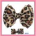 Free Shipping!New 12pcs  leopard printed satin hair bow hair alligator clip